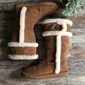 Michael Kors | Sheep Fur Lined Mid Calf Boots